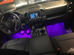 RGBW 4pc Interior Lighting w/ Bluetooth Controller