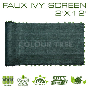 Load image into Gallery viewer, Artificial Hedges Faux Ivy Leaves Fence Privacy Screen Panels  Decorative Trellis - 2' x 12' - ColourTree