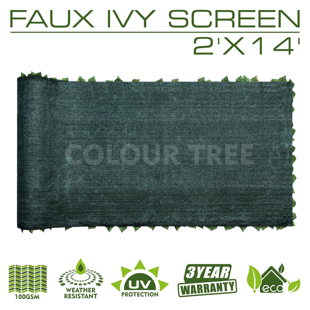 Load image into Gallery viewer, Artificial Hedges Faux Ivy Leaves Fence Privacy Screen Panels  Decorative Trellis - 2' x 14' - ColourTree