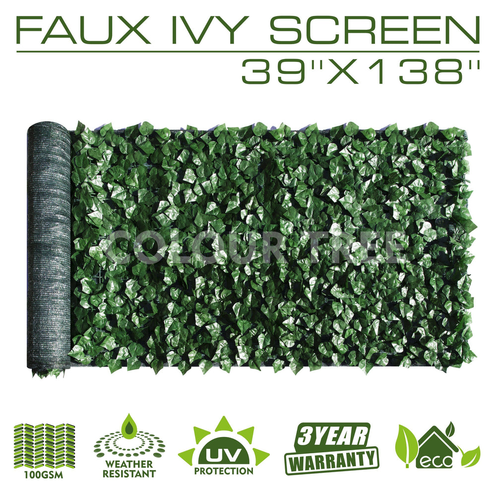 Artificial Hedges Faux Ivy Leaves Fence Privacy Screen Panels  Decorative Trellis - 39