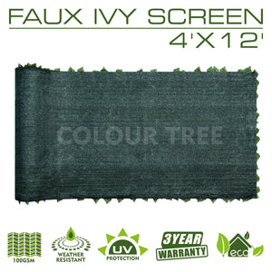 Load image into Gallery viewer, Artificial Hedges Faux Ivy Leaves Fence Privacy Screen Panels  Decorative Trellis - 4' x 12' - ColourTree