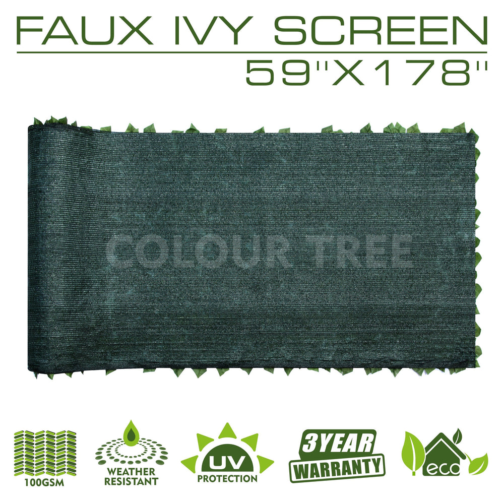 "Load image into Gallery viewer, Artificial Hedges Faux Ivy Leaves Fence Privacy Screen Panels  Decorative Trellis - 59"" x 178"" - ColourTree"