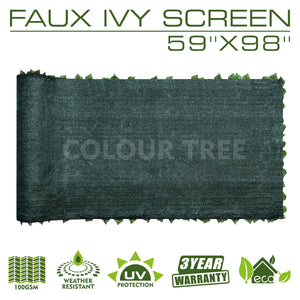 "Load image into Gallery viewer, Artificial Hedges Faux Ivy Leaves Fence Privacy Screen Panels  Decorative Trellis - 59"" x 98"" - ColourTree"
