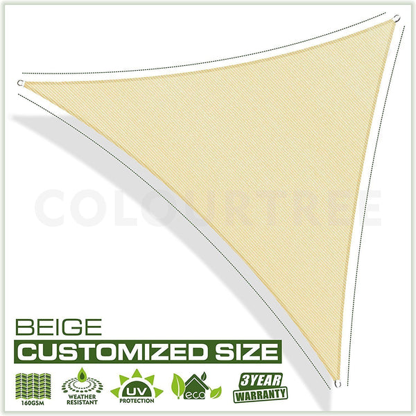 Right Triangle Sun Shade Sail Custom Size Order to Make - ColourTree