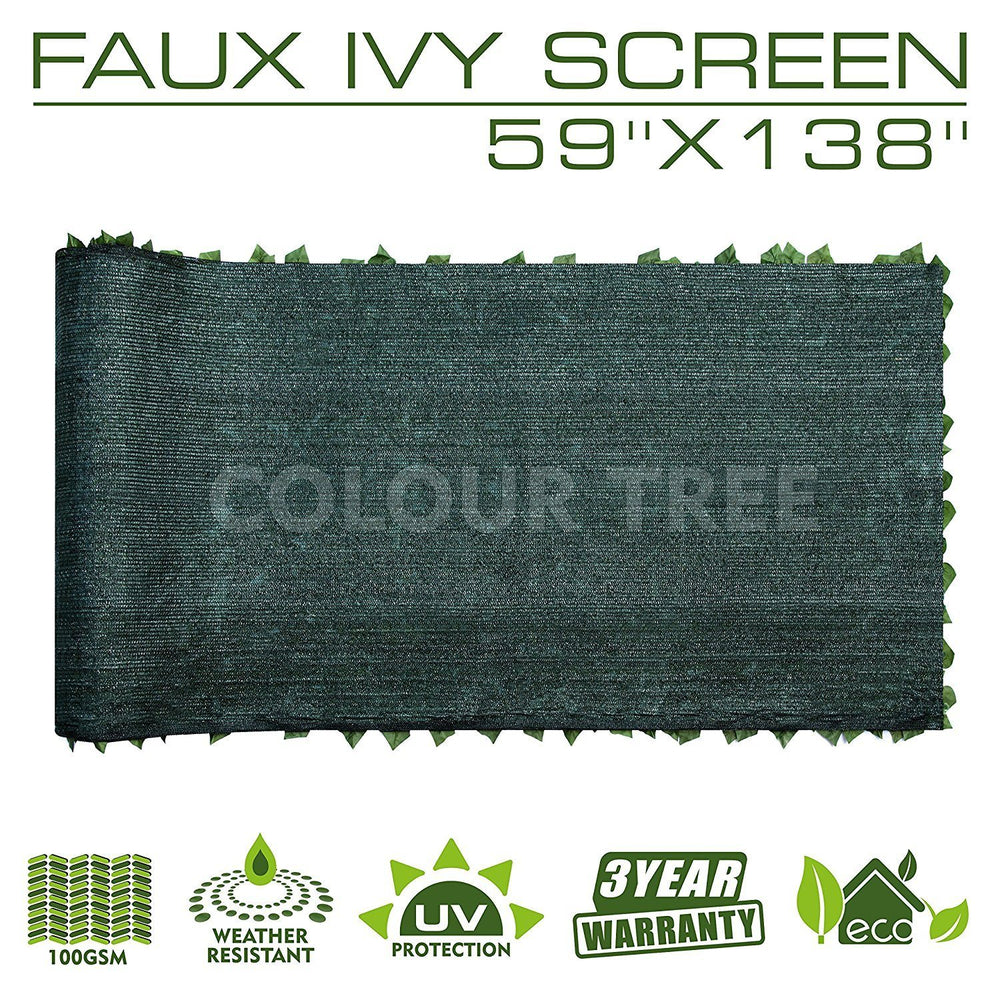 "Load image into Gallery viewer, Artificial Hedges Faux Ivy Leaves Fence Privacy Screen Panels  Decorative Trellis - 59"" x 138"" - ColourTree"