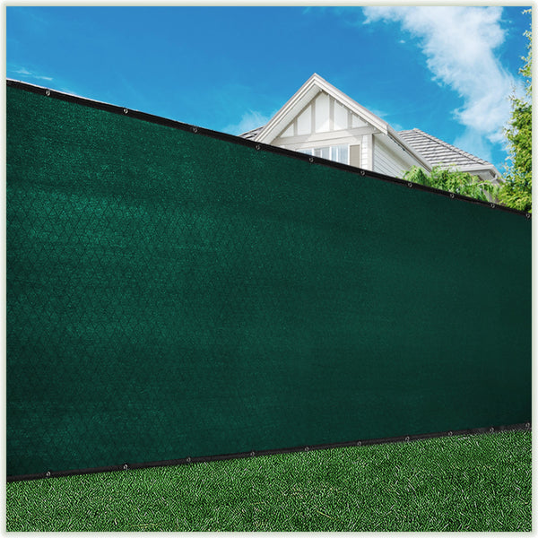ColourTree 4' x 50' Green Fence Privacy Screen Windscreen, Commercial Grade 170 GSM Heavy Duty, We Make Custom Size - Colourtree inc