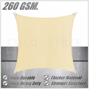 Square Super Ring - Heavy Duty, Super Durable, Beige Sun Shade Sail