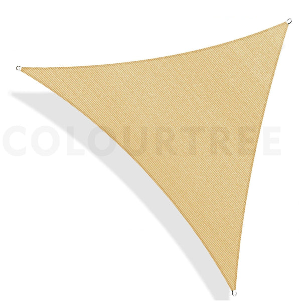 Equilateral Triangle Sun Shade Sail Canopy, Commercial Grade, 6 Sizes, 8 Colors