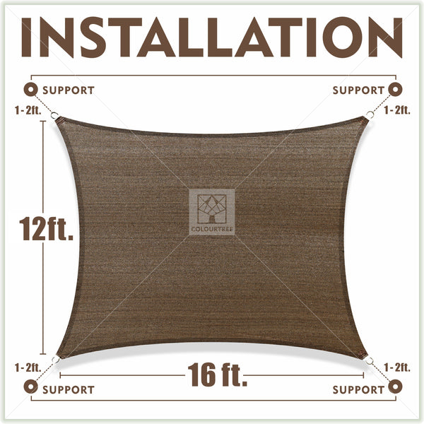 Rectangle Sun Shade Sail Custom Size Order to Make