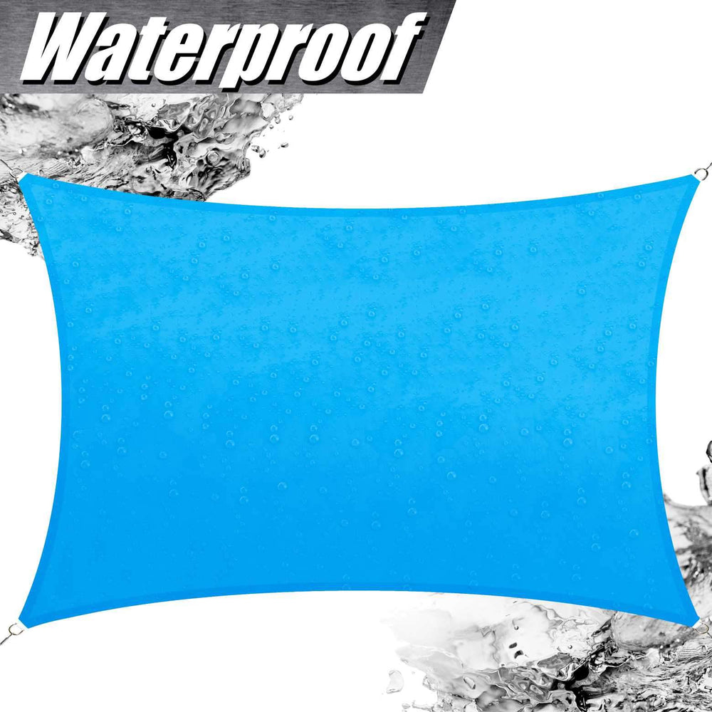 Rectangle Waterproof Outdoor Sun Shade Sail (Custom Size Made to Order) - ColourTree