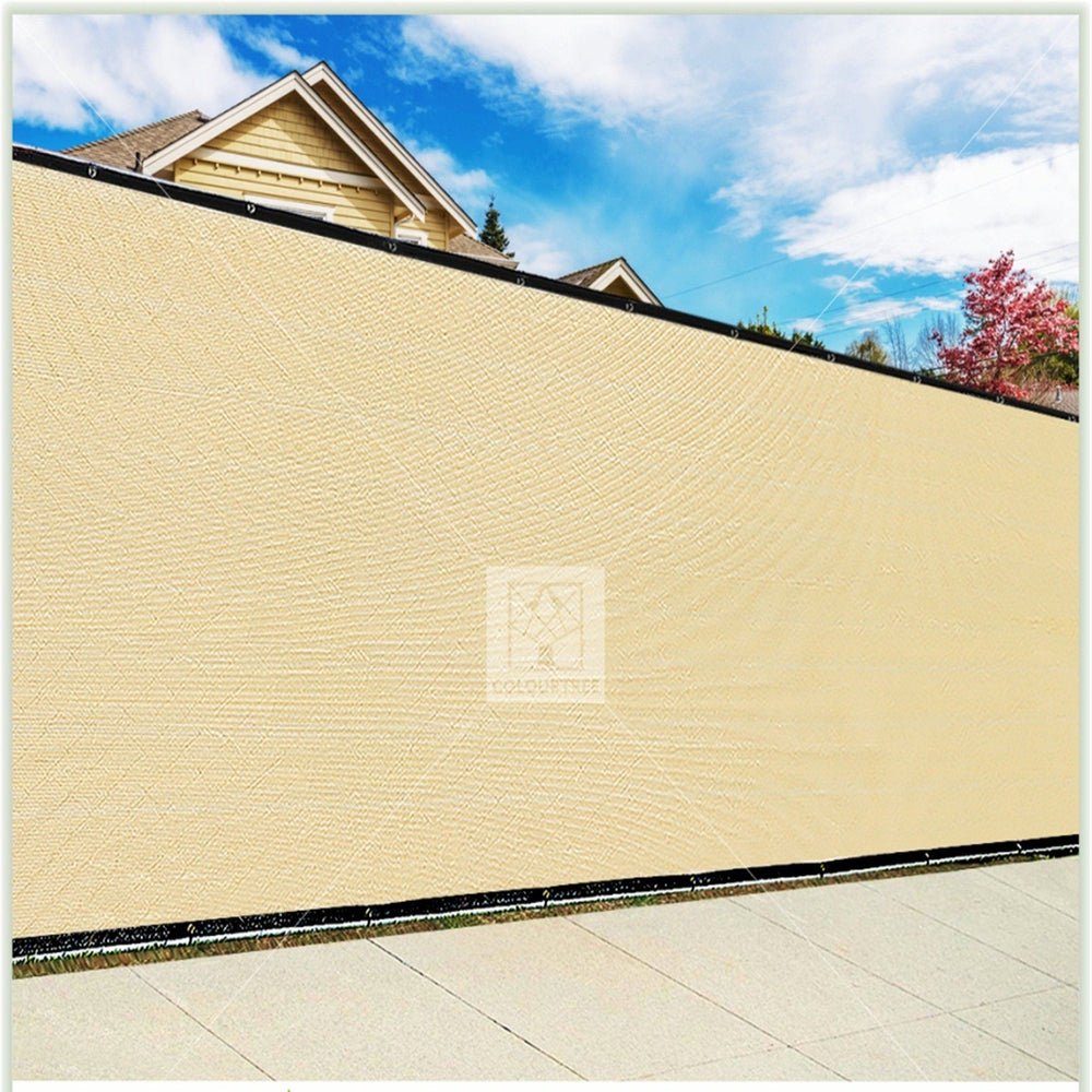 3 Foot Fence Outdoor Privacy Screen Cover Windscreen with Heavy Duty Brass Grommets, Commercial Grade - 170 GSM | 4 Colors - ColourTree
