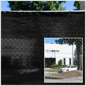 Load image into Gallery viewer, 6 Foot Fence Privacy Screen Cover Windscreen with Heavy Duty Brass Grommets, Commercial Grade - 170 GSM | 4 Sizes & 7 Colors - ColourTree