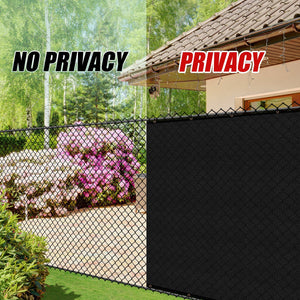 Load image into Gallery viewer, 4 Foot Fence Outdoor Privacy Screen Cover Windscreen with Heavy Duty Brass Grommets, Commercial Grade - 170 GSM | 4 Sizes & 7 Colors - ColourTree