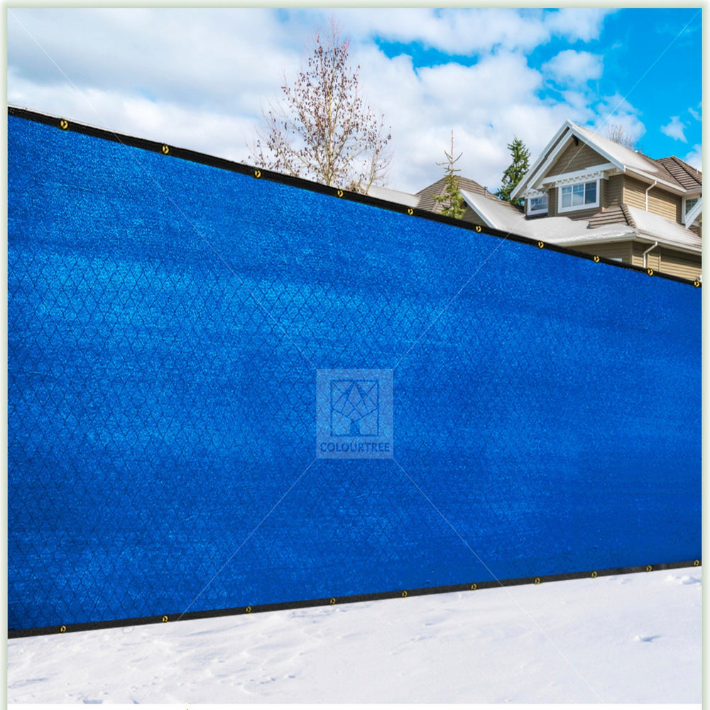 4 Foot Fence Outdoor Privacy Screen Cover Windscreen with Heavy Duty Brass Grommets, Commercial Grade - 170 GSM | 4 Sizes & 7 Colors - ColourTree
