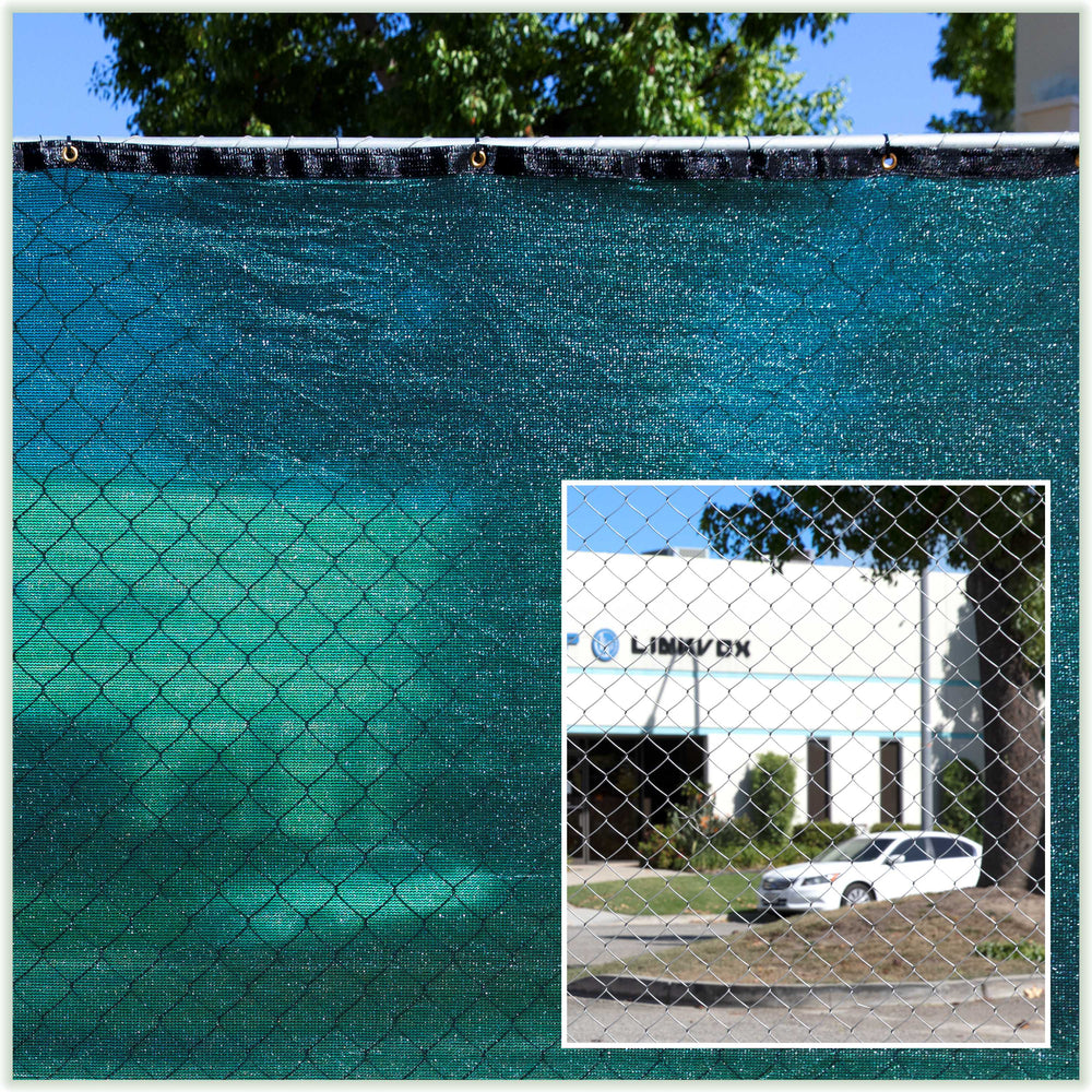 5 Foot Fence Privacy Screen Cover Windscreen With Heavy Duty Brass Grommets Commercial Grade 170 Gsm 4 Sizes 7 Colors Colourtree
