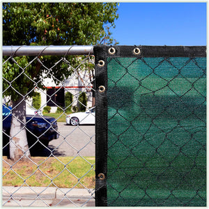 Load image into Gallery viewer, 8 Foot Fence Privacy Screen Cover Windscreen with Heavy Duty Brass Grommets, Commercial Grade - 170 GSM | 4 Sizes & 7 Colors - ColourTree