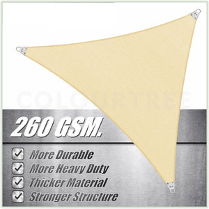 Triangle Super Ring - Heavy Duty, Super Durable, Beige Sun Shade Sail