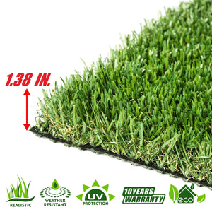 Spring Artificial Turf Faux Grass Mat Lawn Rug - Indoor and Outdoor