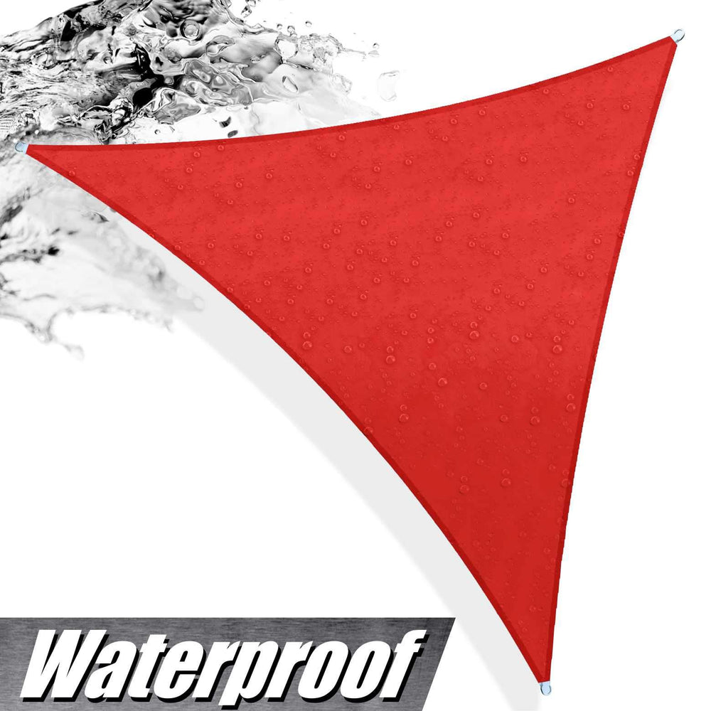 Load image into Gallery viewer, Waterproof Triangle Shade Sail Outdoor Canopy Awning, Patio and Pergola Cover - ColourTree
