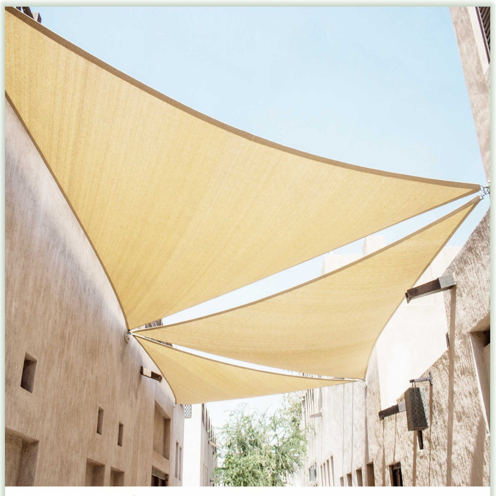 Equilateral Triangle Sun Shade Sail Canopy, Commercial Grade, 8 Sizes, 8 Colors - ColourTree