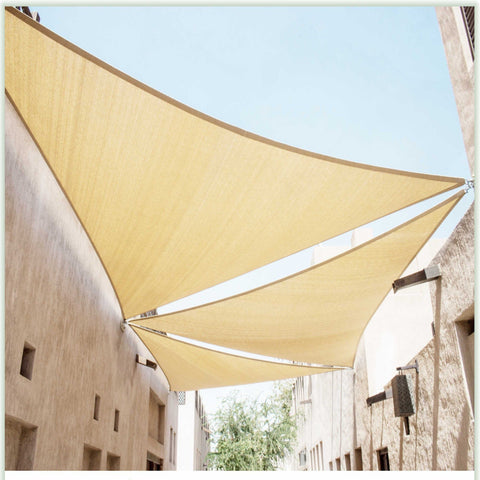 Equilateral Triangle Sun Shade Sail Canopy, Commercial Grade, 6 Sizes, 8 Colors - ColourTree