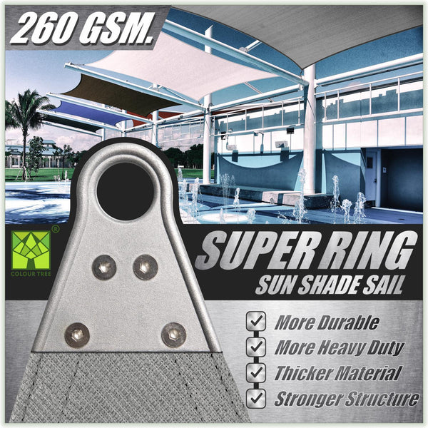 Right Triangle Heavy Duty & Super Durable Super Ring Sun Shade Sail Canopy - Outdoor Patio, Pergola and Deck Cover (Custom Size Made to Order) - ColourTree