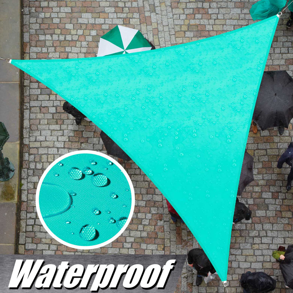 Waterproof Triangle Shade Sail Outdoor Canopy Awning, Patio and Pergola Cover - ColourTree