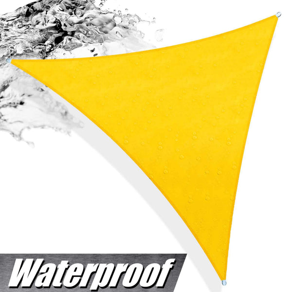 Triangle Waterproof Outdoor Sun Shade Sail Canopy  - Outdoor Patio, Pergola and Deck Cover (Custom Size Made to Order) - ColourTree