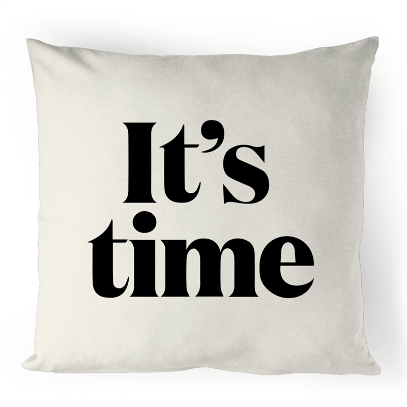It's Time Linen Cushion Cover