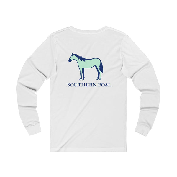 Classic Logo Blue & Mint Long Sleeve Tee
