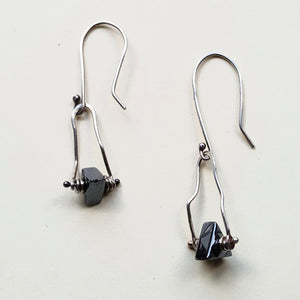 Dancing Hematite Earrings - Blue Hill Jewelry