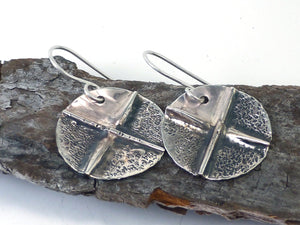 Fold Formed Silver Earrings