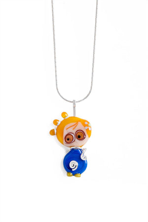 Wear your kids Glass Necklace One-of-a-Kind