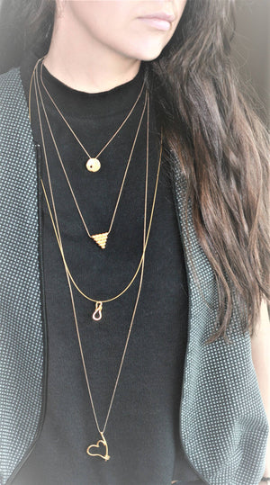 Geometric Gold Plated Necklace