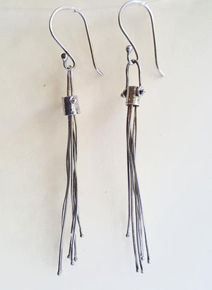 Metal Fringe Earrings (I have no idea) - Blue Hill Jewelry