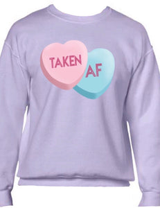 Taken AF V-Day Sweater