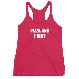 PIZZA AND PINOT - Women's tank top