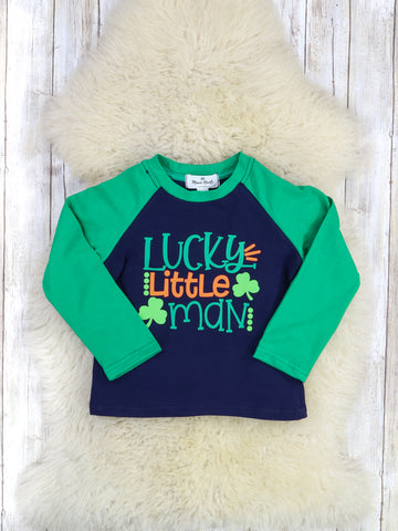Lucky Little Man Shamrock Shirt