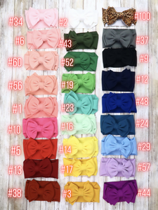 Double Layer Bow Headwrap - 27 Colors Available