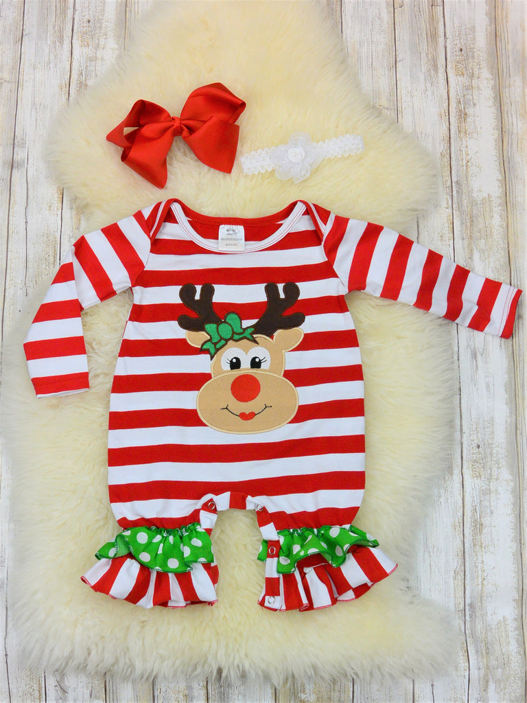 79878d43b super quality 66165 03b6b red white stripe santa romper infant ...