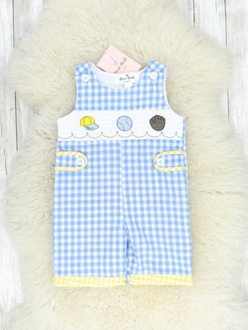 Blue & Yellow Smocked Ball Game Johnny