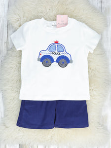 Police Car T-Shirt & Shorts Outfit