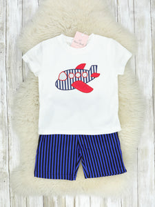 Airplane T-Shirt & Shorts Outfit