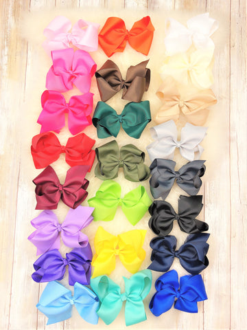 5 Inch Alligator Clip Bow- 8 Colors Available