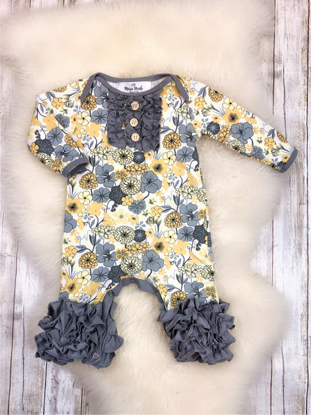 Smokey Floral Icing Romper