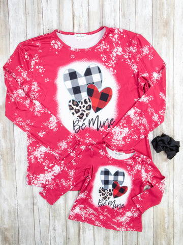 "Mom & Me ""Be Mine"" Hearts Top"