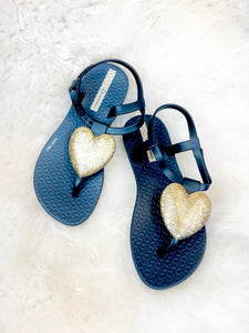 Girls Heart Sandals- 3 Colors