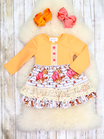 Pumpkin Patch Ruffle Dress
