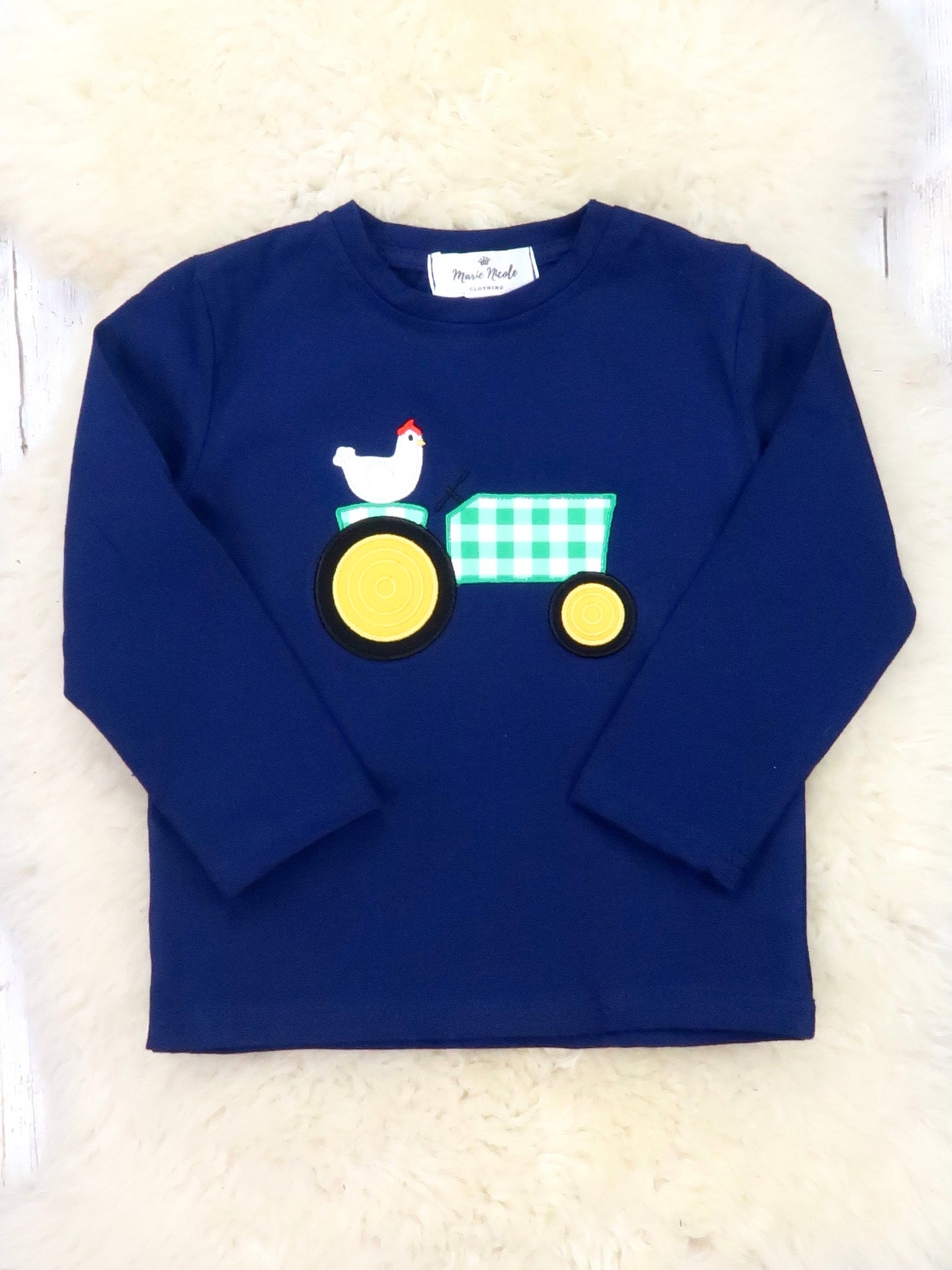 Navy Chicken Tractor Shirt