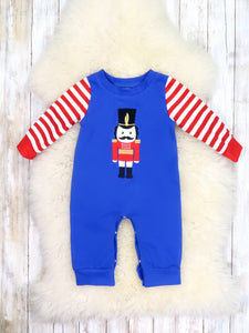 Blue / Red Striped Nutcracker Romper